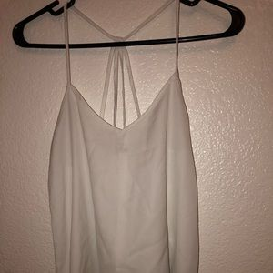 White cris crossed tank top.